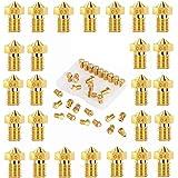 beihuazi® V6 munstycke 26 st. M6 munstycke 0,2 mm 0,3 mm 0,4 mm 0,5 mm 0,6 mm 0,8 mm 1,0 mm för 1,75 mm filament 3D-skrivare