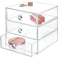 iDesign rangement maquillage à 3 tiroirs, boîte de rangement compacte en plastique pour produits de beauté, ou…