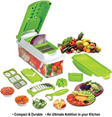 Floraware Plastic Multi Fruit and Vegetable Cutter, Green