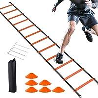 Scala Agilità Scaletta per Allenamento,Scala di Allenamento per la velocità,scaletta allenamento,12 pioli da6 m,Contiene…