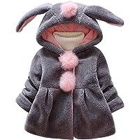 De feuilles Manteau à Capuche Bébé Fille Vest à Capuchon Polaire éPais Chaud Mignon De Lapin Oreille Cartoon pour Enfant…