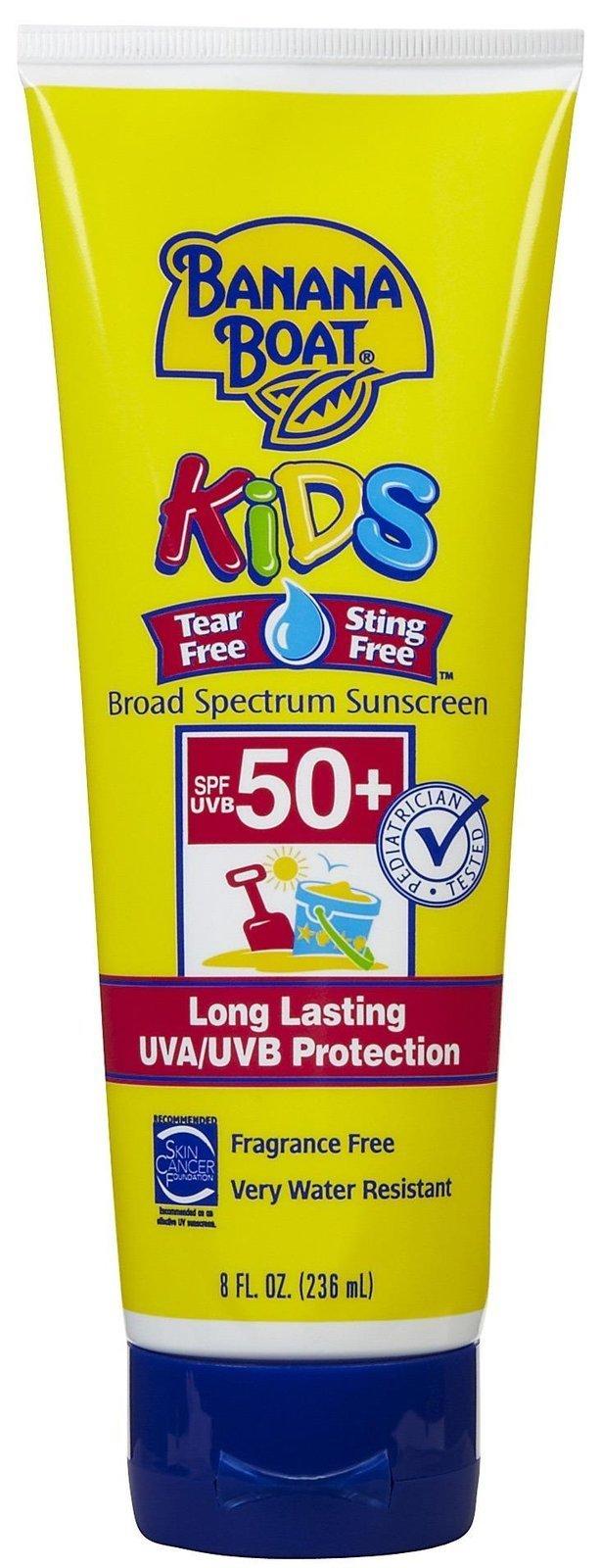 Banana Boat 235 ml Bambini Fattore di Protezione Solare#50 Schermo Solare Totale senza Lacrime