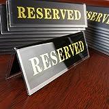 Earlywish Lot de 20 plaques de signalisation double face en acrylique pour table de restaurant 11,4 x 3,8 cm