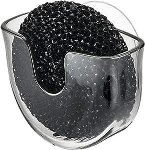 iDesign Schwammhalter Küche kleine Schwammhalterung mit Saugnapf aus Kunststof