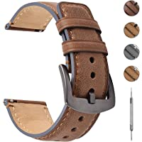 Fullmosa 3 Colors Yola Leather Watch Strap 18mm 20mm 22mm Compatbile with Fossil Smartwatch,Huawei Watch,Samsung Watch
