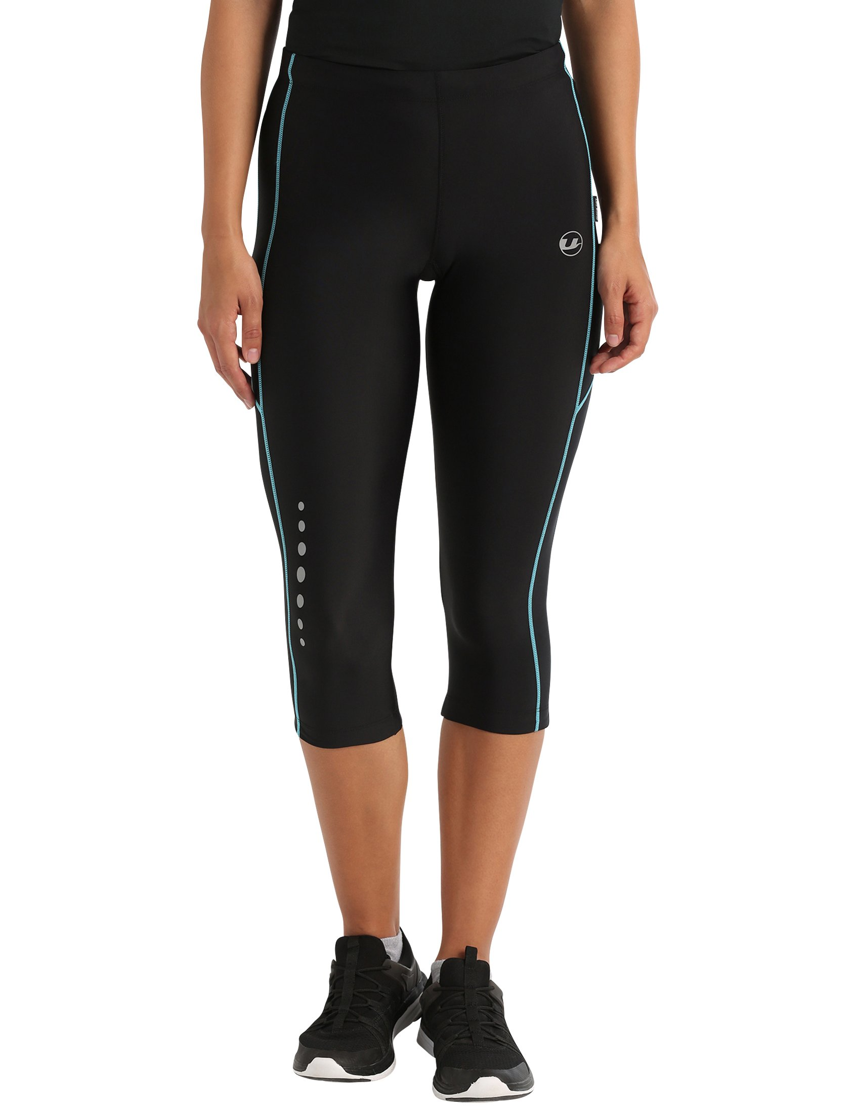 711meDIW 5L - Ultrasport Women's Running Pants Capri with Compression Effect & Quick-Dry-Function