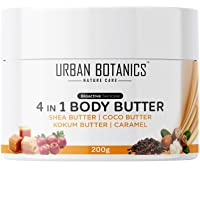 UrbanBotanics® 4 in1 Body Butter For Dry Skin/ Normal Skin/Itchy Skin & Stretch Marks with Shea Butter, Cocoa Butter…
