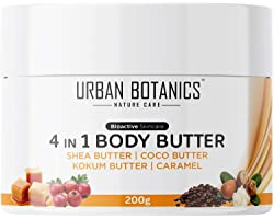 UrbanBotanics® 4 in1 Body Butter For Dry Skin/ Normal Skin/Itchy Skin & Stretch Marks with Shea Butter, Cocoa Butter, Kokum B