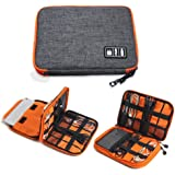 TOUARETAILS Travel Digital Accessories Storage Bag, Gadget Organizer Case Portable Zippered Pouch For All Small Gadgets Table