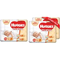 Huggies New Born Taped Diapers (72 Counts) & New Born Taped Diapers Combo Pack of 2, 22 Counts Per Pack (44 Counts)
