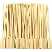 Aneco 300 Pieces Bamboo Skewers Barbecue Bamboo Skewers Cocktail Paddle Sticks for BBQ Party Supplies