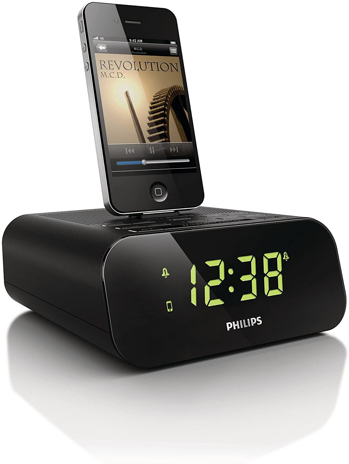 philips aj3270 radio r veil station d 39 accueil pour ipod iphone avec tuner fm double alarme. Black Bedroom Furniture Sets. Home Design Ideas