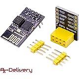 AZDelivery ESP-01 ESP8266 Modulo Wifi con Adattatore Breadboard per Arduino e con eBook