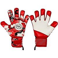 GK Saver Football Goalkeeper Gloves Camo Red Professional Goalie Gloves Size 4 to 7