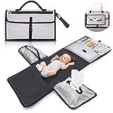 Cambiador bebé portátil e impermeable XL - Este cambiador de pañales es un bolso desmontable compuesto por 6 bolsillos junto