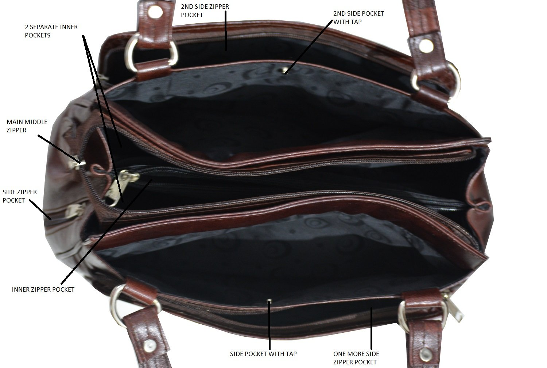 9da6d26c5 GenWayne small multipurpose leather handbags for women cum ...