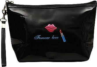 FabSeasons Women's Black Make-up Pouch (Large)