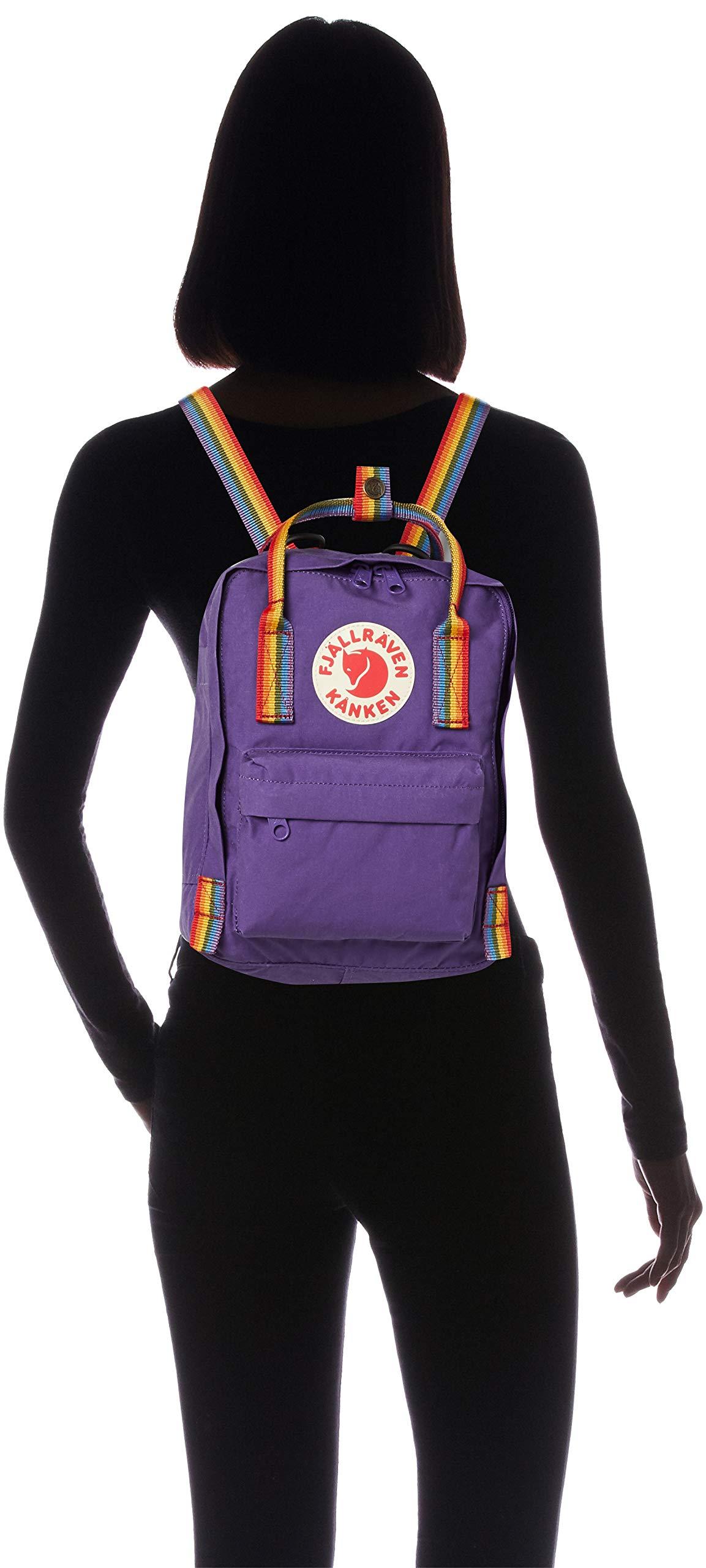 711ownVrDkL - FJALLRAVEN Kånken Mini Mochila, Unisex Adulto, (Purple/Rainbow Pattern), Talla Única