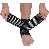 Cambivo 2 x Supporto per Caviglia, Cavigliera Sportiva Elastica da Uomo e Donna, per Sport Problemi (S/M)