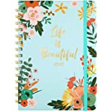 2020 2021 Diary - A5 Academic Diary Week to View from July 2020 to June 2021, Twin-Wire Binding, 15x21cm, Blue
