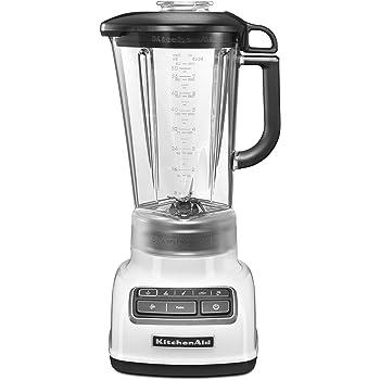 KitchenAid 4 Speed 5KSB1585DWH 1.7 Litre 550 W Diamond Blender with Recipe Book (Standard Colour - White)