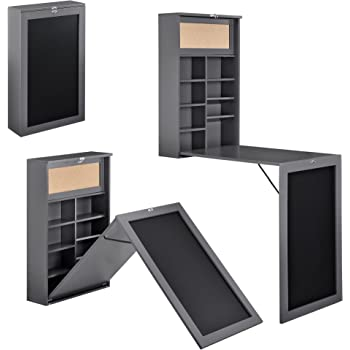 sobuy fwt08 w armoire murale avec table pliable int gr e memo board et un panneau sur le. Black Bedroom Furniture Sets. Home Design Ideas