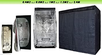 Indoor Portable Grow Tent Green Room Silver Mylar Lined Hydroponics Carbon (80x80x180) & Indoor Portable Grow Tent Green Room Silver Mylar Lined ...