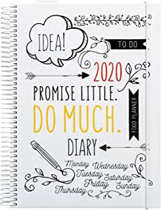 Doodle Planner 2020 Diary | Creative Planner for 2020 | Weeky Planner | 120g Paper | 325 Stickers Included | 9 December 2019-3 January 2021