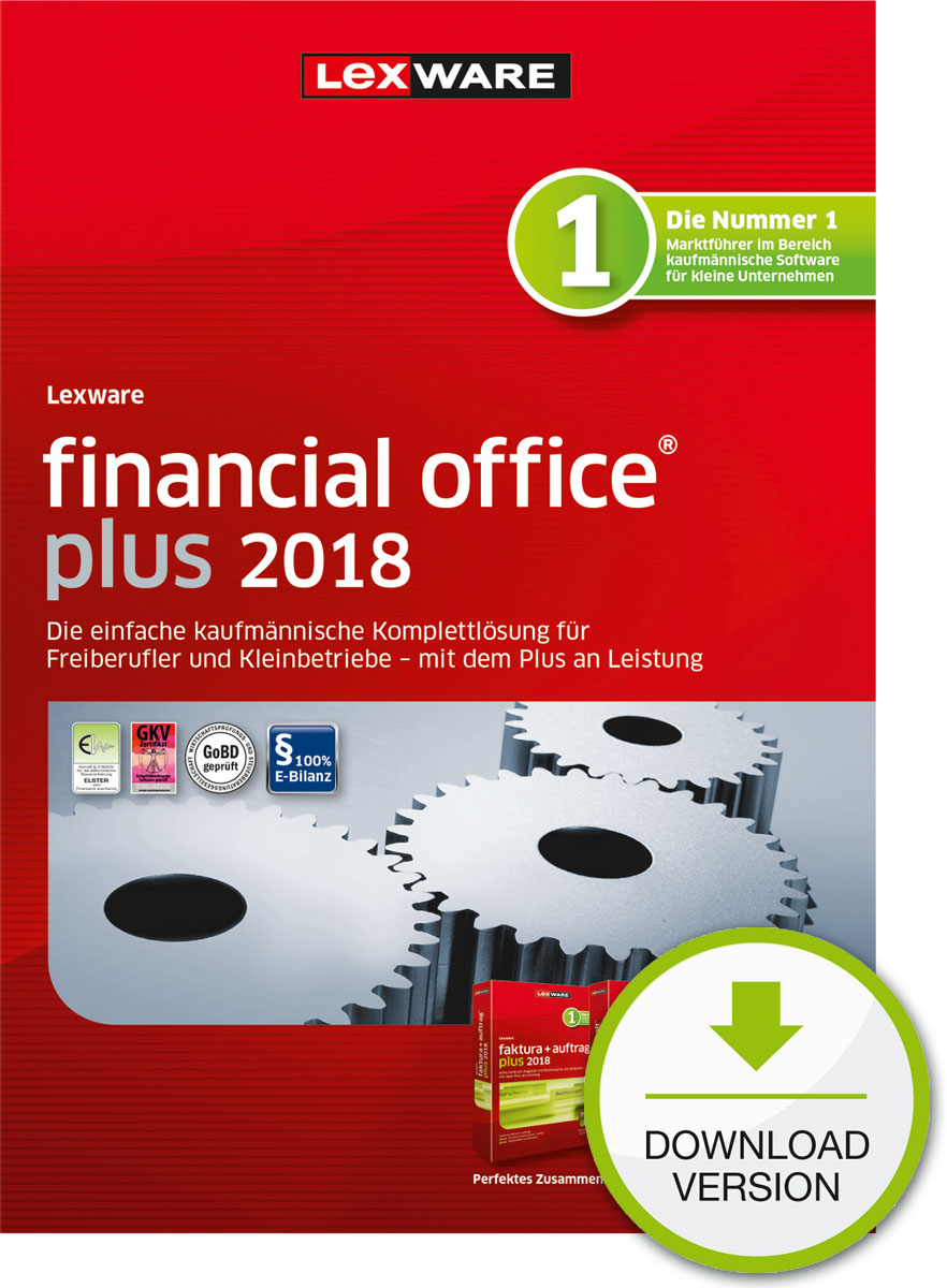 Lexware financial office plus 2018 Download Jahresversion (365-Tage) [Online Code]