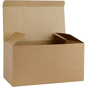 Ruspepa 10 Pack 30 5 X 15 5 X15 5cm Recycled Cardboard Gift Boxes Large Decorative Box With Lids For Christmas Birthdays Holidays Weddings Kraft
