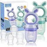 ANGELBLISS Tétine d'alimentation pour bébé/Tétine à fruit/tetine grignoteuse bebe/Anneau d'Alimentation soulage les gencives-