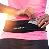 Build & Fitness Cinturón Hombre/Mujer para Correr, Riñonera Running Reversible, Clip Llavero, Riñonera Deportiva Apta para iP