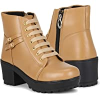 Carrito Zipper Synthetic Leather Casual Boots for Women and Girls Boots Boots for Women