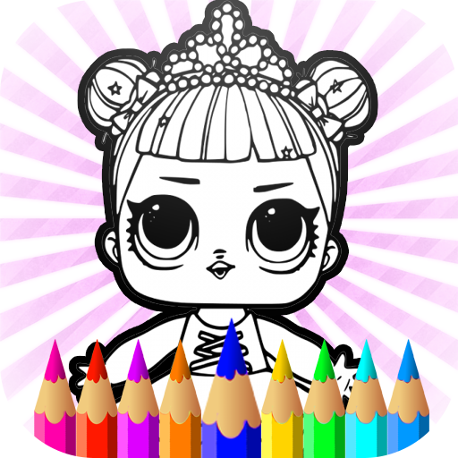 Surprise Dolls Coloring Pages LOL Cartoons Kids Amazonde Apps Fur Android