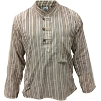 SHOPOHOLIC FASHION multicolore Mix dharke rayures léger confortable manches longues traditionnel chemise grand-père…