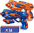 Magicwand® Foam Blaster Gun with FREE 16 Bullets (Pack of 2 Guns)
