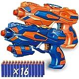 Magicwand® Foam Blaster Gun with FREE 16 Bullets (Pack of 2 Guns)