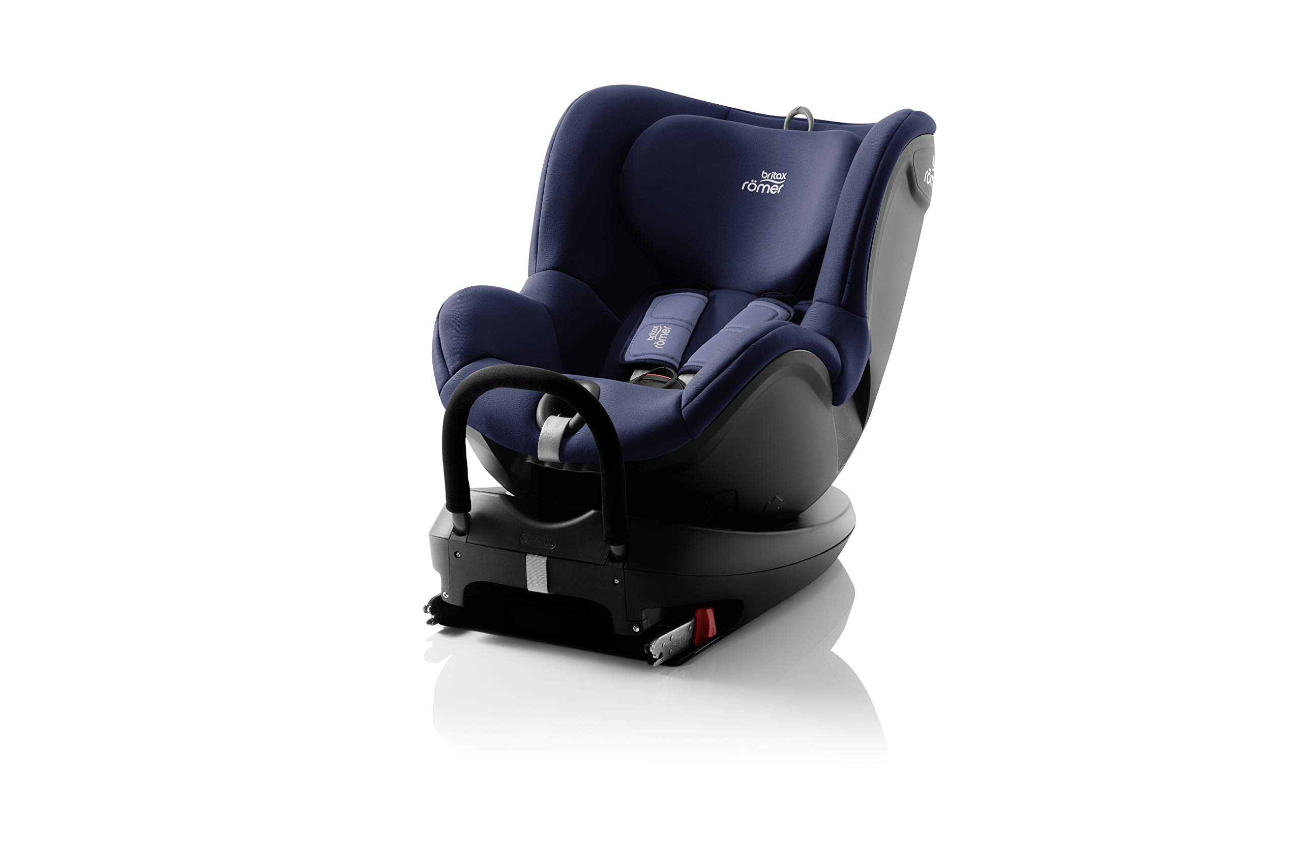 Britax Römer car seat birth DUALFIX 2 R car seat swivel group 0+/1, Moonlight Blue, 18 kg Britax Römer Intuitive 360 Degree rotation for rearward and forward facing usage Easy entry with 90 Degree rotation to the open door for easy placement of the child Extended rearward facing travel with more leg space thanks to shorter rebound bar 1