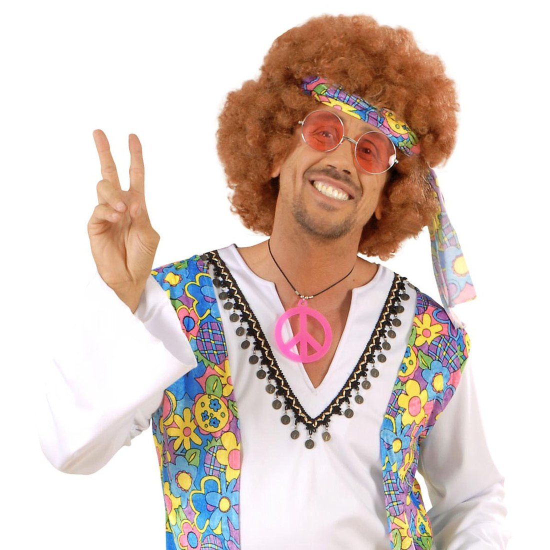 b2e60f9ace4d John Lennon Hippiebrille 72er Jahre Retrobrille Orange runde Sonnenbrille  Retro Hippie Brille Karnevalskostüme Zubehör Flower Power