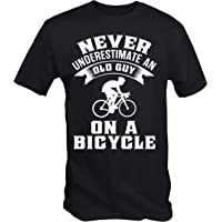 6TN Mens Never Underestimate an Old Guy On A Bicycle T Shirt