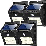 Luz Solar Exterior,【180 ° Super Brillante-4 Piezas】Yacikos Foco Solar LED 40 con Sensor de Movimiento Impermeable, Lámpara So