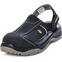EuroRoutier Premium Carbon Sabots en Cuir Chaussures de Sécurité Femme