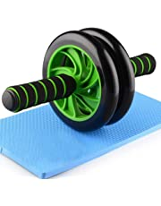 AB SALES Roller, Dual-Wheel Abs Carver with Thick Knee Pad for Abdominal and Core Workout