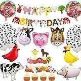 JeVenis 29 PZ Animali da fattoria Decorazioni per compleanno Animali da fattoria Banner per compleanno Animali da fattoria Ar