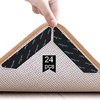 Adispotg Teppichgreifer Antirutschmatte, 24 Stück doppelseitige Anti-Curling Rug Gripper, waschbarer und…