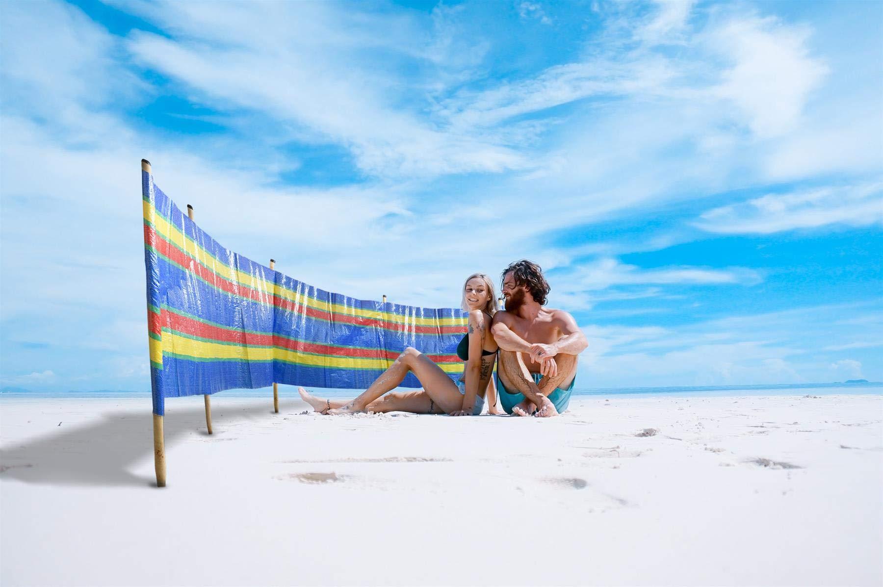 Vinsani® 4, 5, 6, 8, 10 POLE BEACH HOLIDAY CARAVAN CAMPING WINDBREAK TALL WINDBREAKERS 1