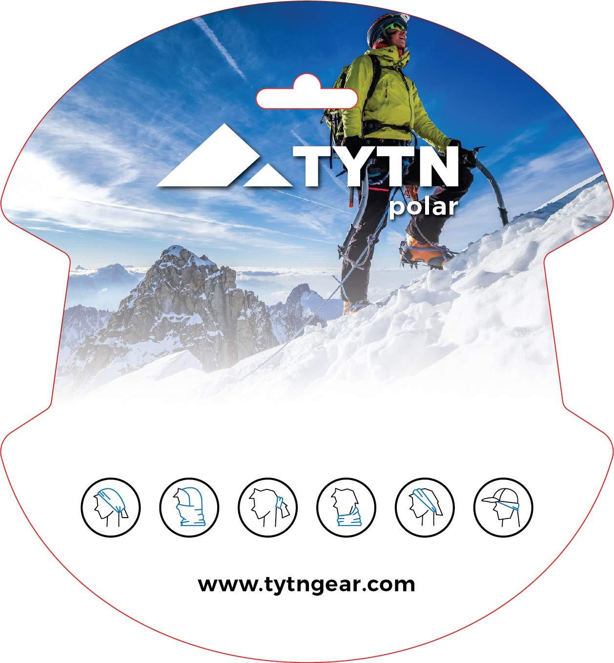 TYTN Neck Warmer Head Scarf - Multifunctional Bandana for outdoor wear - Microfiber & Polar Fleece 1