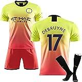 Uniforme de fútbol para Hombres, Adecuado para Debruyne # 17 Manchester Match Training Jersey Uniforme de fútbol, Poliéster