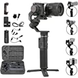 FeiyuTech G6 MAX 3-Axis Handheld Gimbal Stabilizer for Light Mirrorless Camera Like Sony a7,RX100 Series,Action Camera,Smart