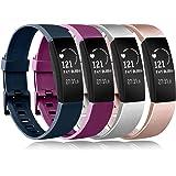 Amzpas Compatibel met Fitbit Inspire/Fitbit Inspire HR armband, zachte TPU reserveband, horlogeband, accessoire voor Fitbit I